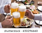 people are cheering with draft... | Shutterstock . vector #650296660