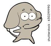 cartoon unsure elephant   Shutterstock .eps vector #650299990