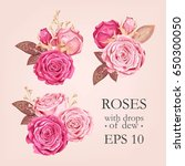 Set Of Pink Rose