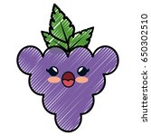 grape cartoon smiley | Shutterstock .eps vector #650302510