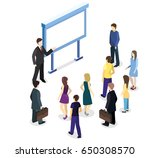 isometric flat 3d concept... | Shutterstock .eps vector #650308570