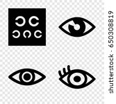 see icons set. set of 4 see... | Shutterstock .eps vector #650308819