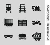 train icons set. set of 9 train ... | Shutterstock .eps vector #650308909