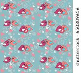 seamless festive pattern with a ... | Shutterstock . vector #650309656