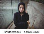 portrait of anxious teenage...   Shutterstock . vector #650313838