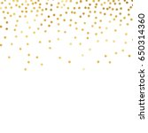 gold glitter background polka... | Shutterstock .eps vector #650314360