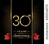 thirty years anniversary... | Shutterstock .eps vector #650316070