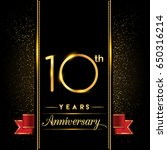 ten years anniversary... | Shutterstock .eps vector #650316214