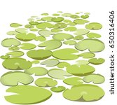 group vector water lilies... | Shutterstock .eps vector #650316406