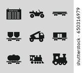 train icons set. set of 9 train ... | Shutterstock .eps vector #650316979