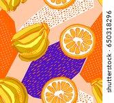 summer background  decorative... | Shutterstock .eps vector #650318296