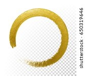 gold glitter circle with vector ... | Shutterstock .eps vector #650319646