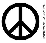 peace symbol vector icon | Shutterstock .eps vector #650324398