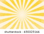 Stock vector horizontal vector illustration of a grunge background of yellow color divergent rays the 650325166