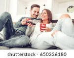 couple in love enjoying their... | Shutterstock . vector #650326180