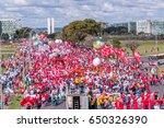 massive protest in brasilia ... | Shutterstock . vector #650326390