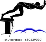 vector image of a swimmer.it is ...   Shutterstock .eps vector #650329030