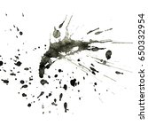 isolated black ink splatter... | Shutterstock . vector #650332954