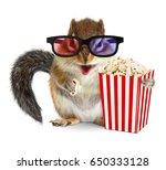 funny animal chipmunk watching... | Shutterstock . vector #650333128