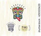 tiki icons colorful design tiki ... | Shutterstock .eps vector #650333620