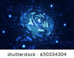 abstract technology concept... | Shutterstock .eps vector #650334304