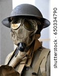 Wwi Soldier Wearing A...