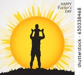 happy fathers day concept with... | Shutterstock .eps vector #650338468