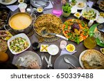 top view of muslim family... | Shutterstock . vector #650339488