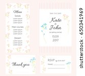 a set of gentle cards for the... | Shutterstock .eps vector #650341969