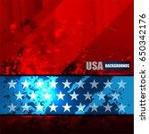 usa background on grunge... | Shutterstock .eps vector #650342176