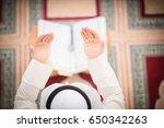 religious muslim man praying...   Shutterstock . vector #650342263