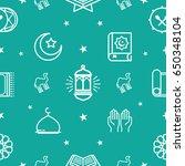 ramadhan pattern. eid mubarak... | Shutterstock .eps vector #650348104