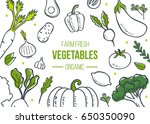 farm fresh vegetables poster.... | Shutterstock .eps vector #650350090