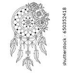 indian dream catcher. zentangle ...   Shutterstock .eps vector #650352418