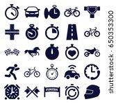 race icons set. set of 25 race... | Shutterstock .eps vector #650353300