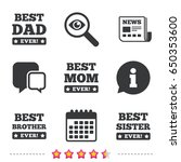 best mom and dad  brother and... | Shutterstock .eps vector #650353600