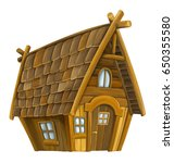 Old Cartoon Wooden House  ...