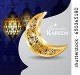 ramadan greeting card | Shutterstock .eps vector #650365180