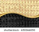 golden and black texture... | Shutterstock .eps vector #650366050