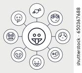 feeling icons set. set of 9... | Shutterstock .eps vector #650367688