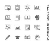 set of statistics  education... | Shutterstock .eps vector #650367958