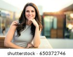 genuine natural portrait of... | Shutterstock . vector #650372746