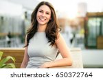 casual smiling laughing... | Shutterstock . vector #650372764
