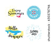 summer labels  logos  hand... | Shutterstock . vector #650378746