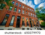 row houses in bolton hill ... | Shutterstock . vector #650379970