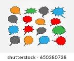 set of colored speech bubbles.... | Shutterstock .eps vector #650380738