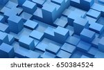 abstract background of cubes... | Shutterstock .eps vector #650384524