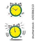 Linear Art Of A Clock In Still...
