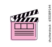 clapperboard to short film... | Shutterstock .eps vector #650389144
