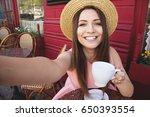 selfie time. portrait of... | Shutterstock . vector #650393554